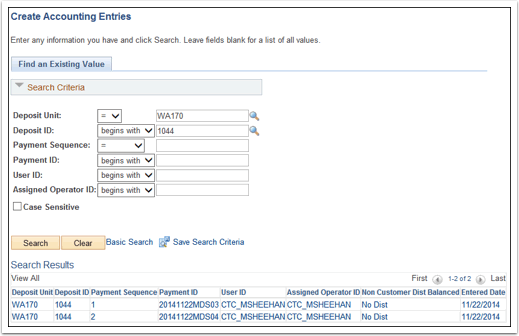 Create Accounting Entries