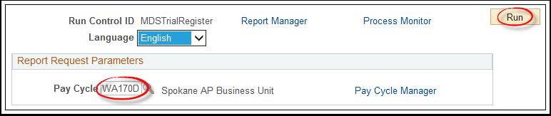 Report Request Parameters