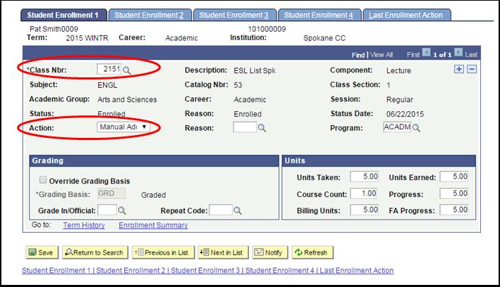 Student Enrollment 1 tab