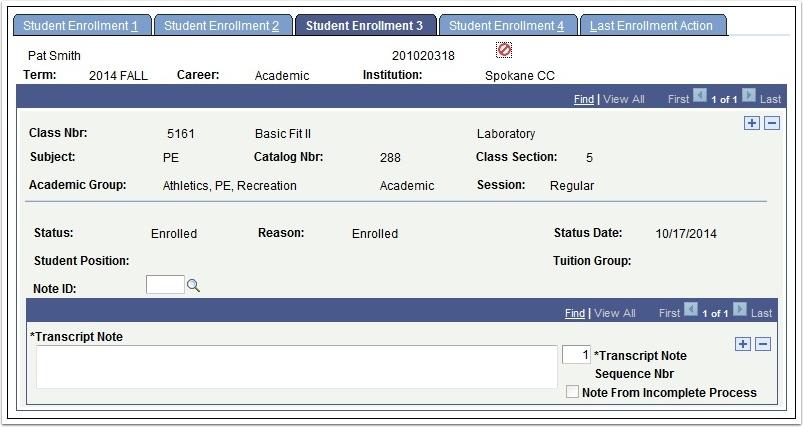 Student Enrollment 3 tab