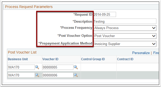 Process Request Parameters