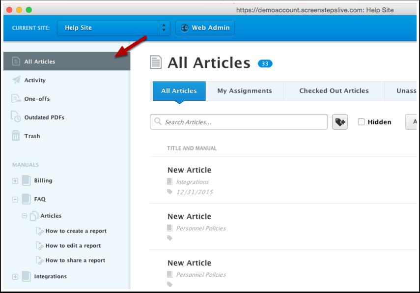 Click All Articles