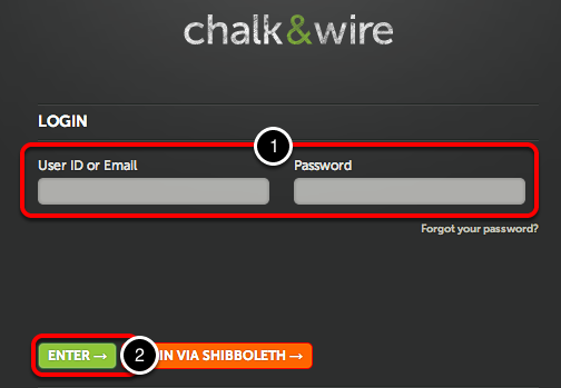 Step 1: Log in to Your Chalk & Wire Account