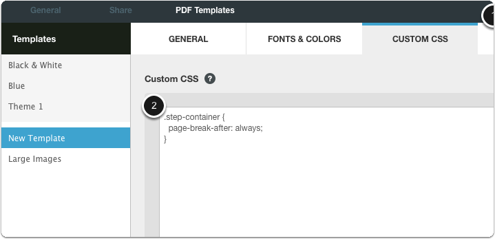 Recipes for customizing PDF templates using the Custom CSS tab ...