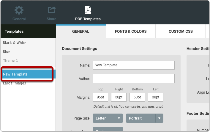 recipes for customizing pdf templates using the custom css tab