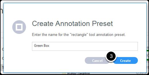 Name annotation preset