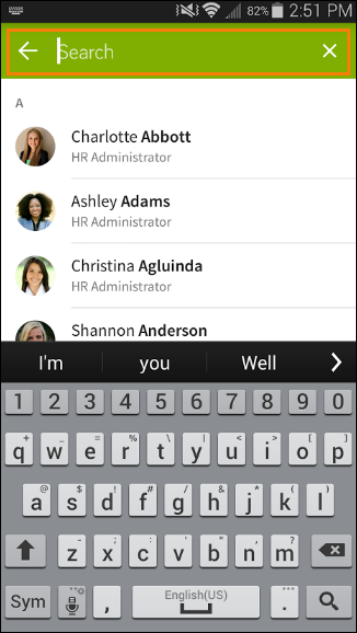 Company Directory in the Mobile App – BambooHR Support