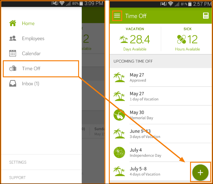 Request Time Off in the Mobile App – BambooHR Support