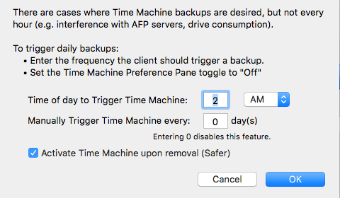 Additional Time Machine Functionality