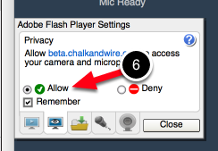 Allow Microphone Access