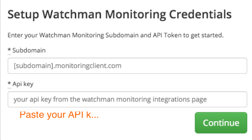 Add Watchman Monitoring credentials
