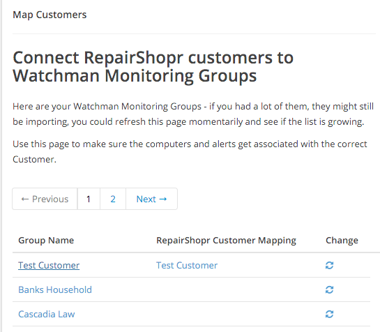 Map Groups to RepairShopr Customers