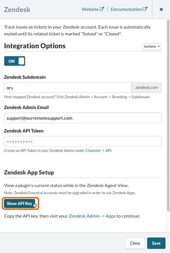 Watchman Monitoring Zendesk Integration