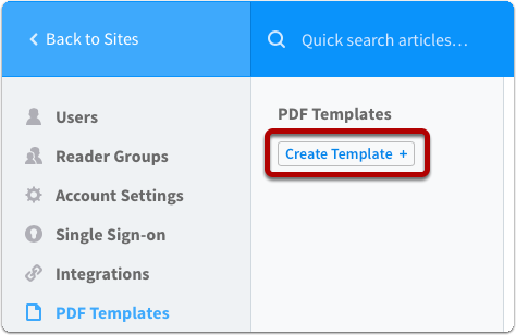 How do I create a PDF template? | Creating PDFs of Your Content ...