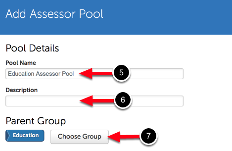 Step 3: Enter/Select Pool Details
