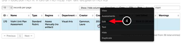 Step 2: Edit Assessment Instrument