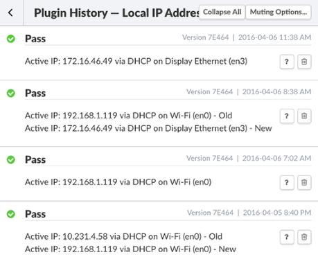 Local LAN IP Address Plugin History
