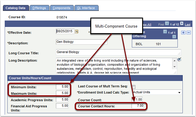 Catalog Data tab