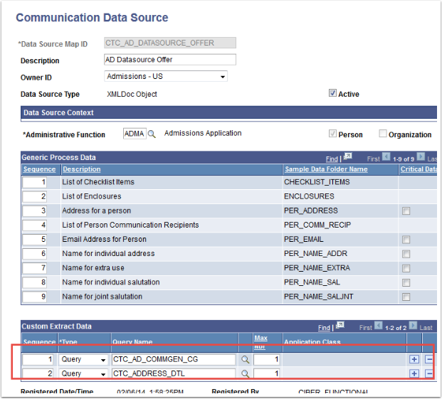 Communication Data Source