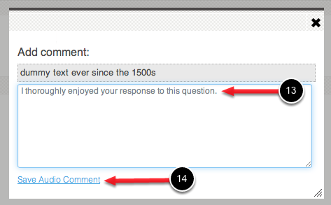 Step 6: Save Audio Comment