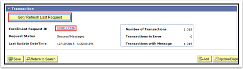 Transaction section