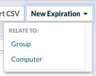 New Expirations > Group or Computer