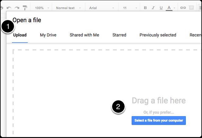 Importing DOCX Files Into Google Docs Clarify Desktop Clarify - Docx to google docs