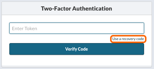 Two-factor Authentication Token Dialog