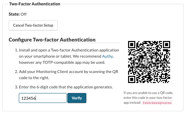 Enable Two-factor Authentication On Your Account