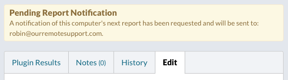 Pending Report Notification