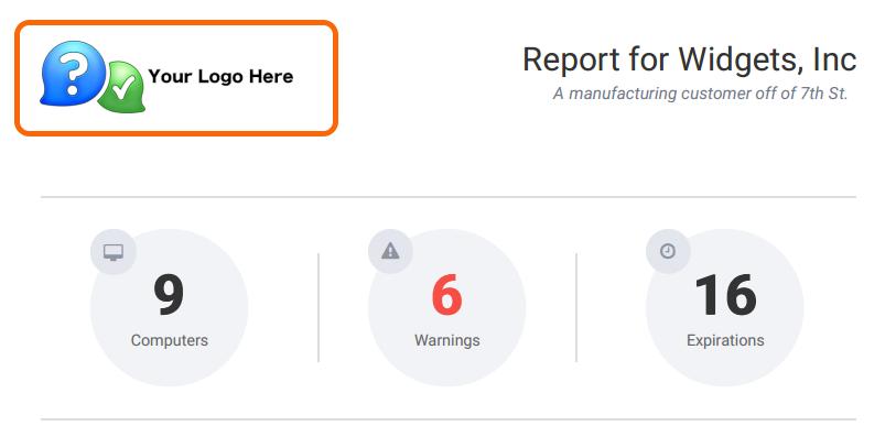PDF Report Branding