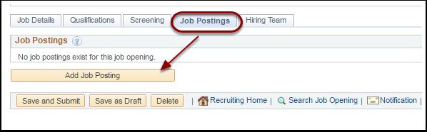 Add Job Postings