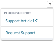 Plugin Support Button Menu