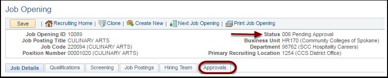 Job Opening Details