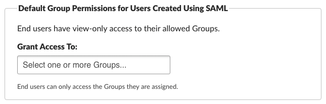 New End User Group Permissions