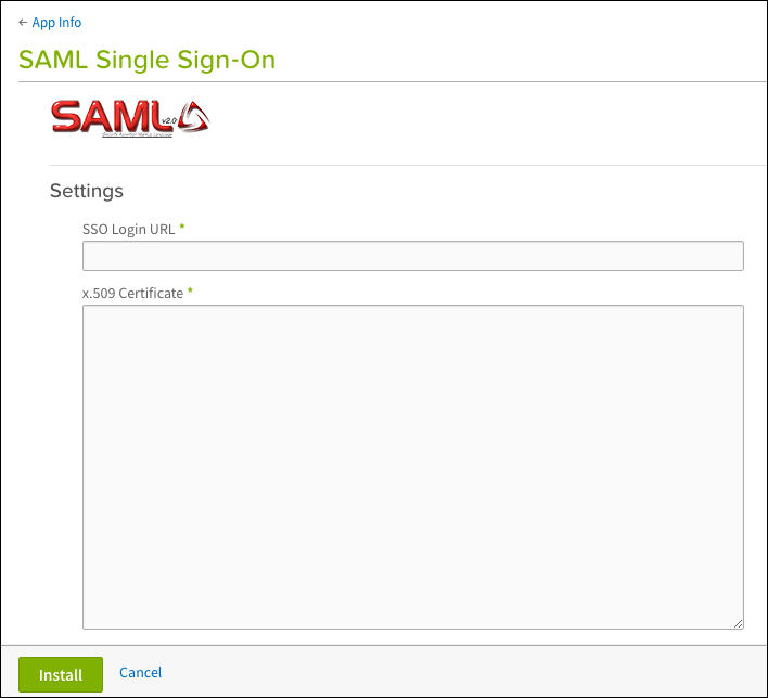 wiki display login using saml single sign