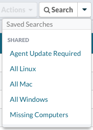 Use a Saved Search or apply your own search criteria