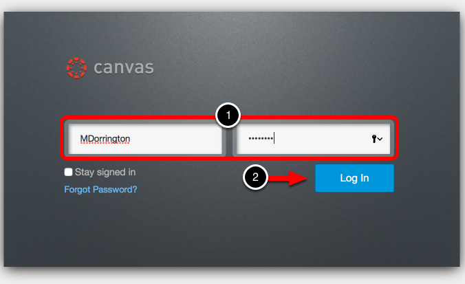 Step 1: Log into Your Canvas Account