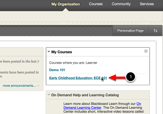 Step 2: Navigate to Course & Select Assignment