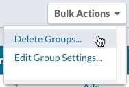 Groups: Bulk Actions > Delete Groups...