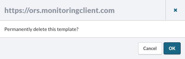 Delete a Template Confirmation