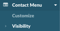 Global Contact Menu Visibility
