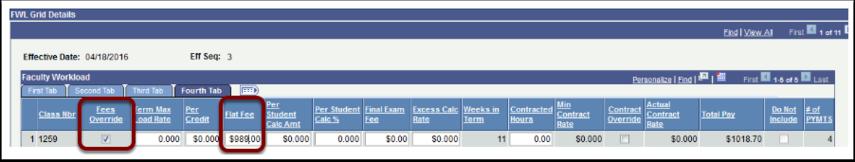 FWL Grid Details Fees