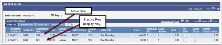 FWL Grid Details Rows