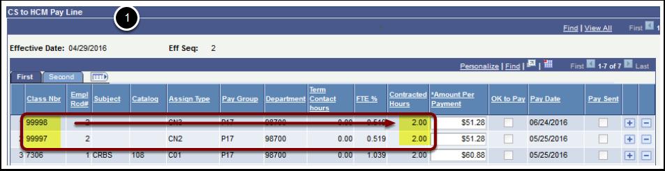 CS to HCM Pay Line
