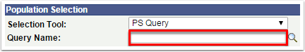 Query Name section