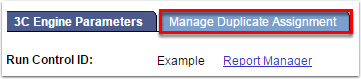 Manage Duplicate Assignment tab