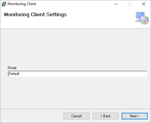 Monitoring Client Settings > Group