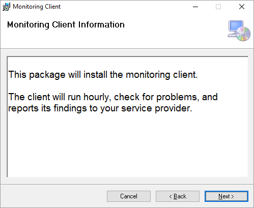 Monitoring Client Installer Information