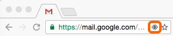 Click the gray double diamonds in Google Chrome